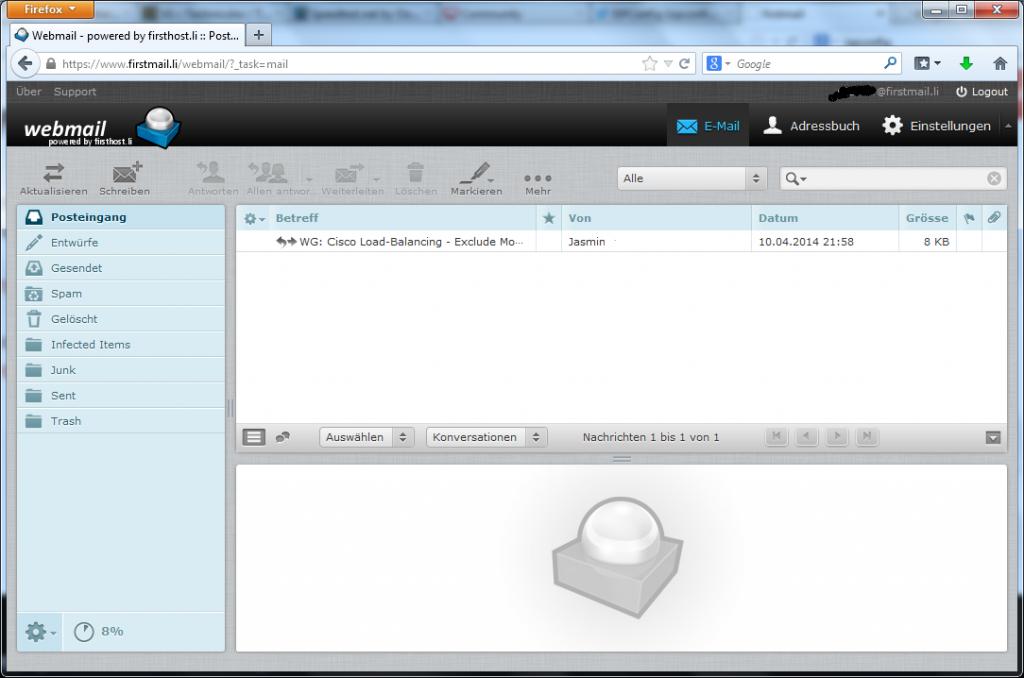Einfach zu bedienender Webmail-Client